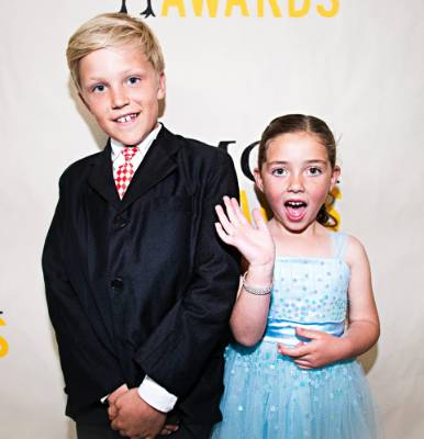 Jonte Van Endhoven, 8, and Lauren Kalin, 6.