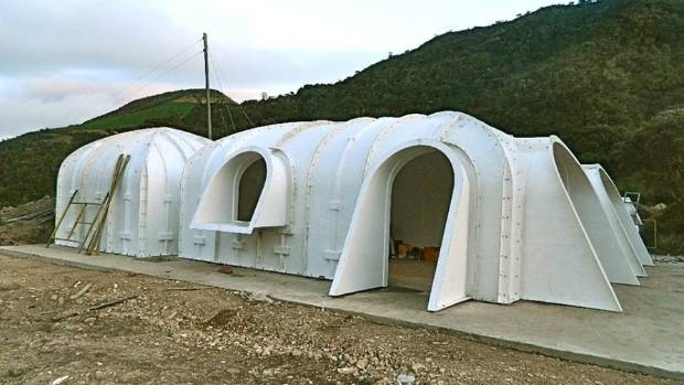 the prefabricated shells made from fibre reinforced polymer can be assembled in a variety of green magic homes