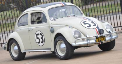 "The 1963 Volkswagen Beetle that starred as ""Herbie"" in two Love Bug movies."