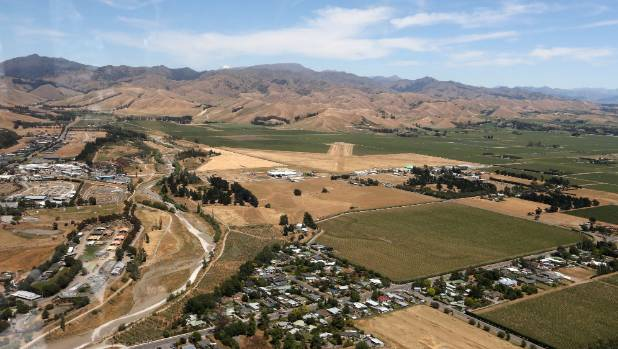 The Wither Hills, in Blenheim, look dry and barren, as Marlborough heads towards the lowest rainfall since 1969.