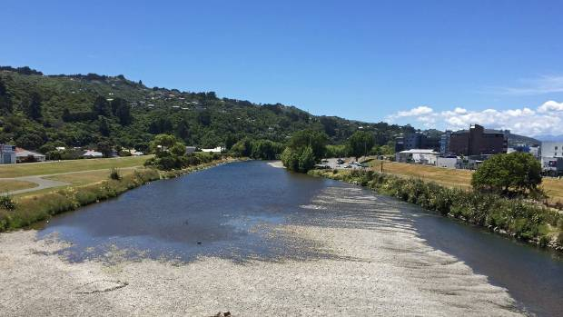 The Hutt River was so low on Boxing Day it was almost possible to cross without getting wet feet.