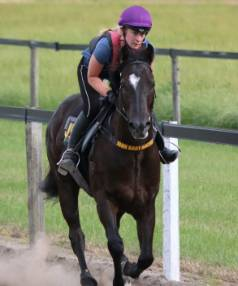 Krista Donnelly still rides work for thoroughbred trainer John Bary, despite choosing a career in nursing over life as a ...