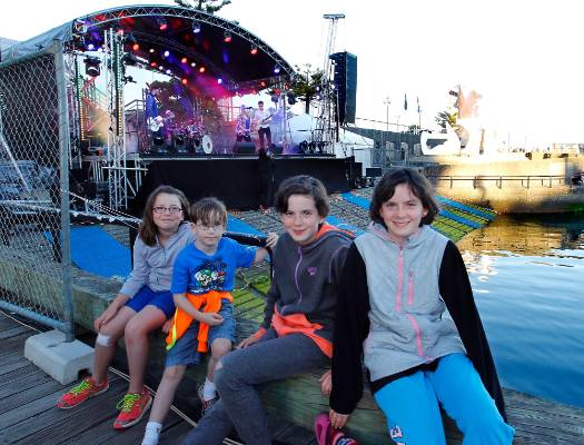 The Big Band New Year's Eve celebration at Summer City Frank Kitts Park in Wellington. The Fitch family from Karori - ...