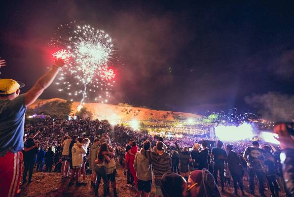 "There was a ""marked improvement"" in behaviour at Rhythm and Vines, police say."