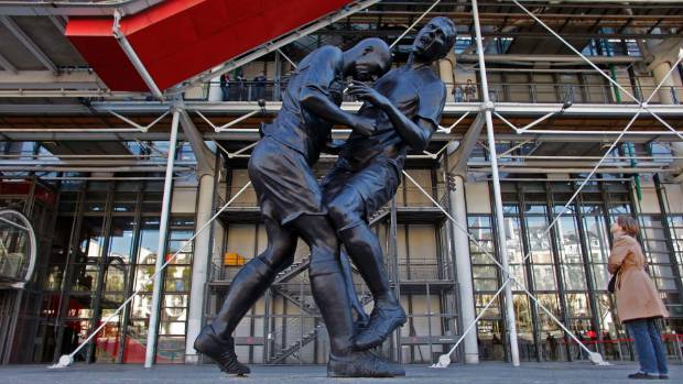 Zinedine Zidane's headbutt of Marco Materazzi in the 2006 World Cup final is so famous it inspired a statue of the incident.