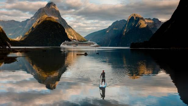 Milford Sound in Fiordland is visited by 1000 vehicles a day at peak times.
