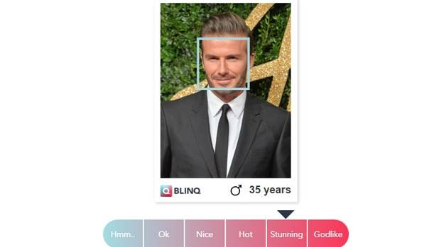 David Beckham, Sexiest Man Alive for 2015, understandably rated highly in the Blinq app.
