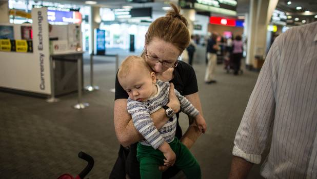 Heather Smith said it was lucky she was still breastfeeding her son, Jeremy Kemsley, after catering issues on Qantas' 15 ...