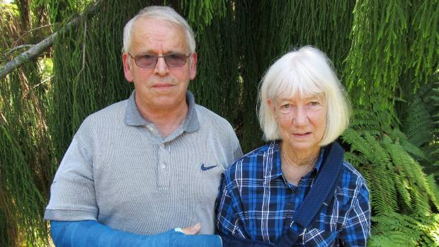 Helmut and Veronica Rudolph are recovering from injuries they sustained when attacked by a large dog.