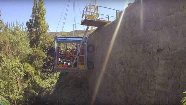 Drone footage shows repairs to retaining wall on for Innovative landscapes christchurch