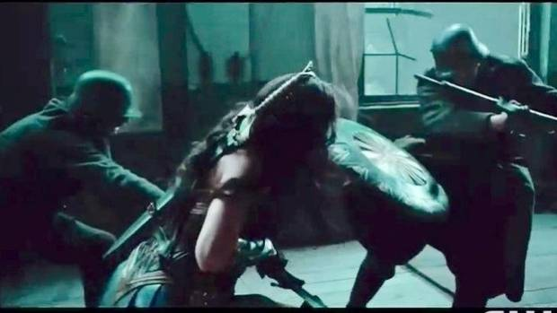 Gal Gadot battling Nazis in a still from Wonder Woman