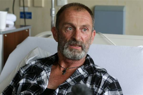 * WARNING: Gallery contains images that may upset some viewers.  Phillip McLean recovers in Palmerston North hospital with serious leg injuries after being attacked by a dog.