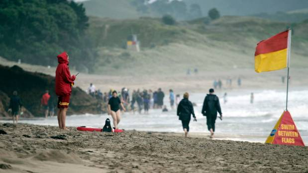 One person is dead and two are injured after drowning at  Hot Water Beach near Whitianga in the Coromandel.