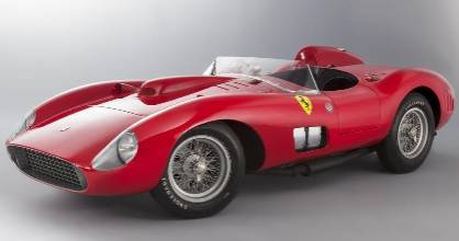 The 1957 Ferrari 335 Sport Scaglietti was raced to victory by legendary British driver Stirling Moss at the Cuba Grand Prix in 1958.