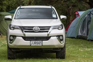 Puts on a good front: you wouldn't mistake Fortuner for a Hilux.