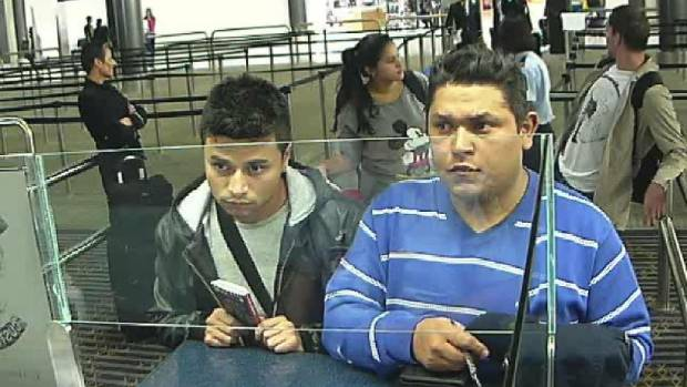 Juan Leal Casillas, left, and Jose Roberto Jimenez Perez were among five Colombians jailed in relation to the theft of ...
