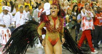The glamourous passistas of the Carnaval parades attract thousands of visitors to Rio.