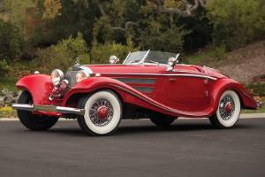 The beautiful 1937 Mercedes-Benz 540K Special Roadster which has sold at auction in the US for more than NZ$15m.