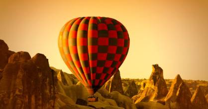 What's the best way to see Cappadocia? From up above.