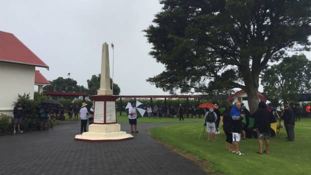 Waitangi has been affected by rain and tthe Prime Minister not showing up.