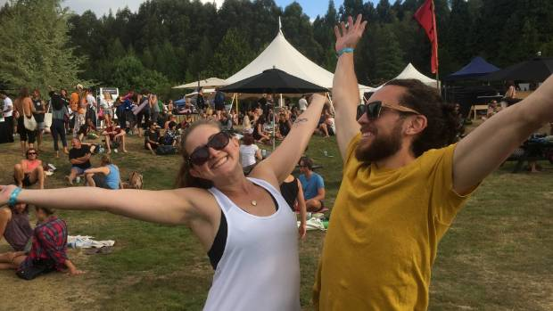 Danielle West and her partner, Dwayne, enjoyed the good vibes at Wanderlust Great Lake Taupo on Saturday.