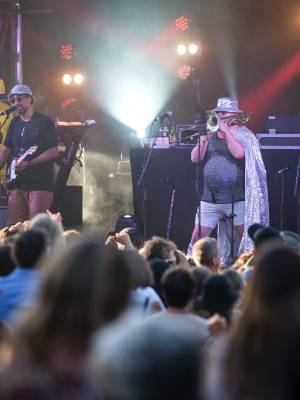 Fat Freddy's Drop perform at Neudorf Vineyards on Friday.