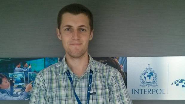 Shaun Stricot-Tarboton is putting his cyber security knowledge to work for Interpol in Singapore for three months.