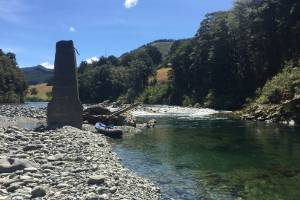 Stopping to admire the scenery at the Pelorus River.
