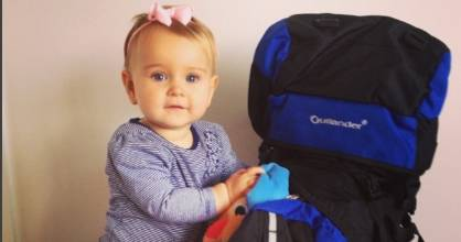At just 17 months old, baby Esme has travelled to more countries than most.