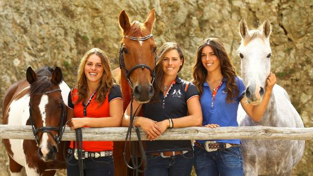 The Wilson sisters (from left) Amanda, Vicki and Kelly headlined the Riding With The Stars event in Hamilton.