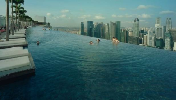 The infinity pool at the top of the Marina Bay Sands development is not for the faint-hearted.