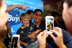 Malakai Fekitoa has always been a popular figure with rugby fans and put on a smiling face in public.