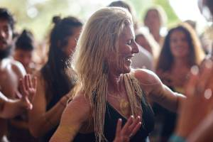 Malibu yoga instructor Shiva Rea, globally renowned for her prana vinyasa yoga style, teaches a class at Wanderlust.
