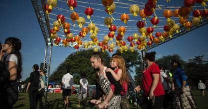 More than 20,000 attended the opening night of the Night Noodle Market in Hagley Park.