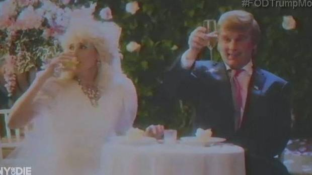 Johnny Depp as Donald Trump in Funny or Die Presents Donald Trump's The Art of the Deal: The Movie.