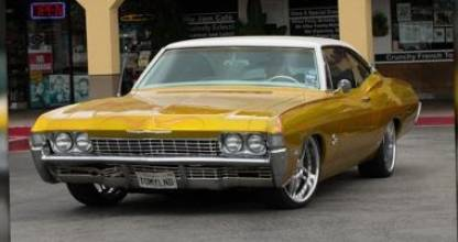 The classic Chevrolet Impala that Motley Crue's Tommy Lee rides around LA in.