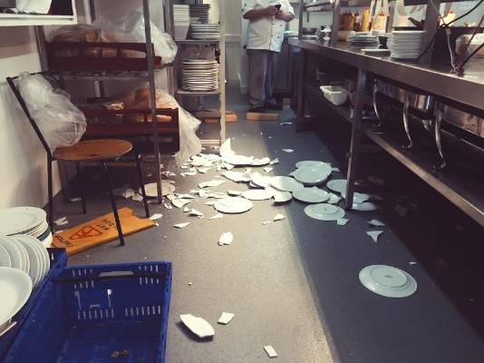 Speights Ale House is a mess after Sunday's earthquake.
