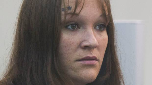 Kelly Crook at her sentencing in the High Court at Wellington on Thursday for being an accessory to the murder of ...