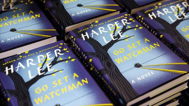 Copies of Harper Lee's book, Go Set a Watchman, a follow-up to literary classic, To Kill a Mockingbird, displayed on a ...