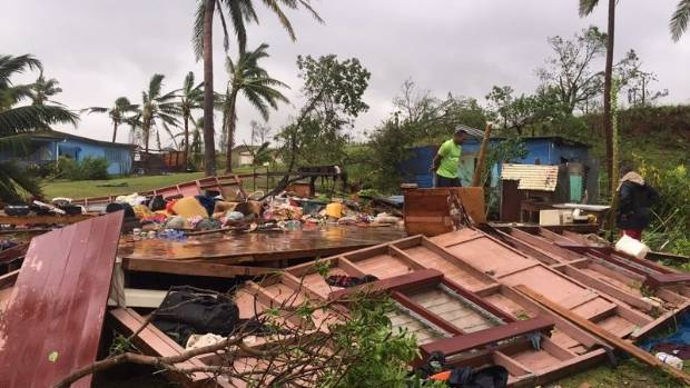 Cleanup after Cyclone Winston begins in Fiji