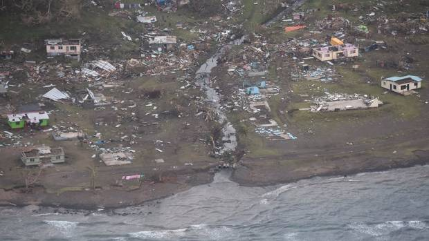 Complete villages have been destroyed by Cyclone Winston.
