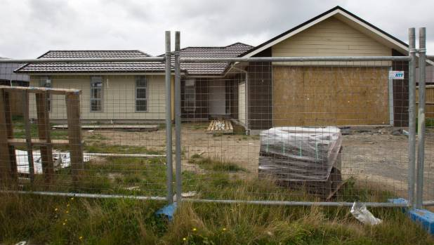 It is understood this home on Bayliss Drive, in Kaiapoi north of Christchurch, has been seized by a Stonewood Homes creditor.