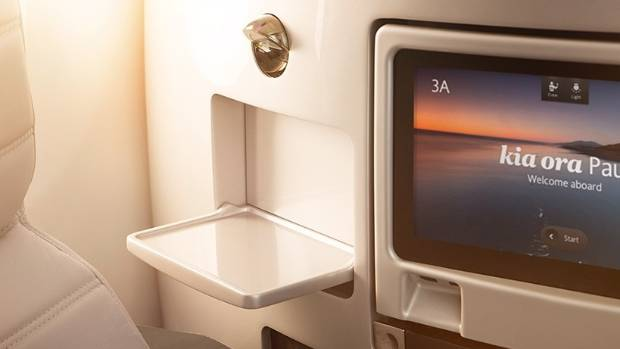 Air New Zealand hopes to install the 3D printed cocktail trays on business premier seats in the coming weeks.
