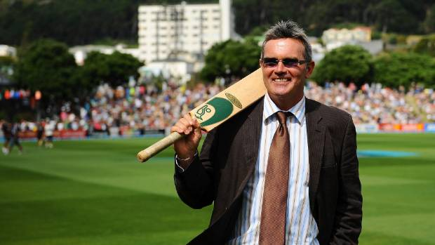 New Zealand cricket great Martin Crowe at the Basin Reserve in Wellington ahead of the 2015 World Cup.