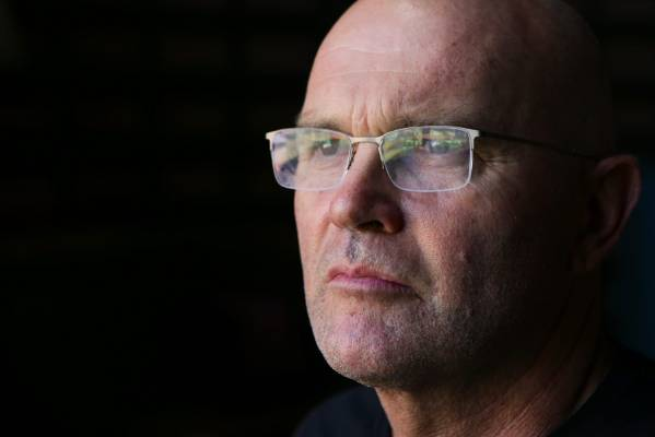 Martin Crowe in Sydney on the eve of the 2015 Cricket World Cup final.