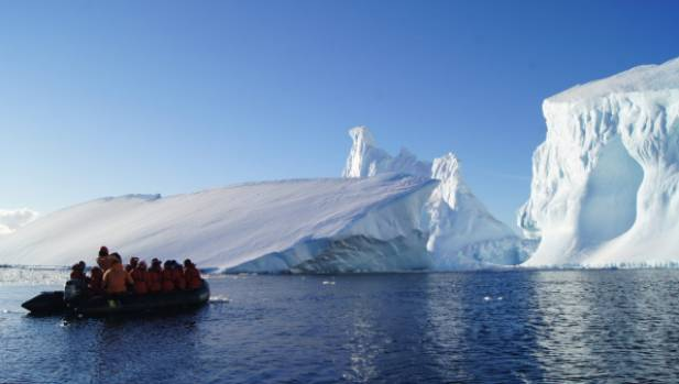 Touring 'the iceberg graveyard'.