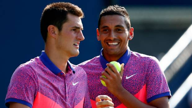 Australia's Nick Kyrgios and Bernard Tomic in happier times.