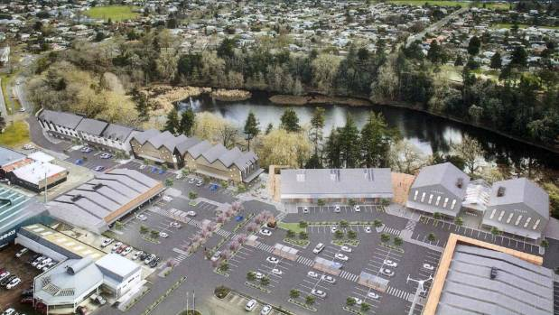 An artist's impression of Lakewood Cambridge, the multi-million dollar development planned to knit the town with Lake Te ...