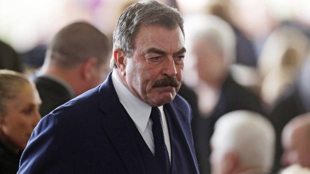 Actor Tom Selleck arrives for funeral services for former First Lady Nancy Reagan.