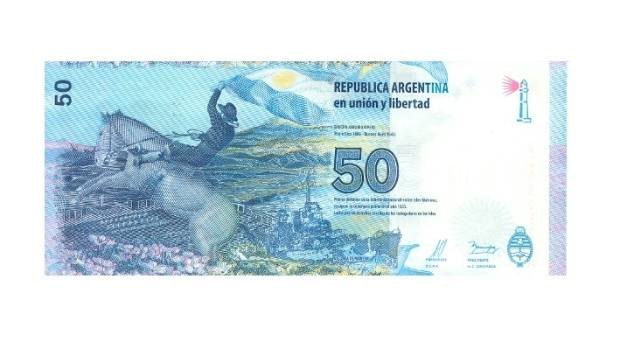 In keeping with the theme, the background of the 50 peso note features graveyards and a battleship.